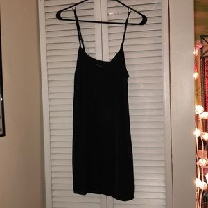 NWT Kendall & Kylie black silk slip dress xs